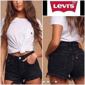 Levi's 501 Black Cutoff denim Shorts Sz 34